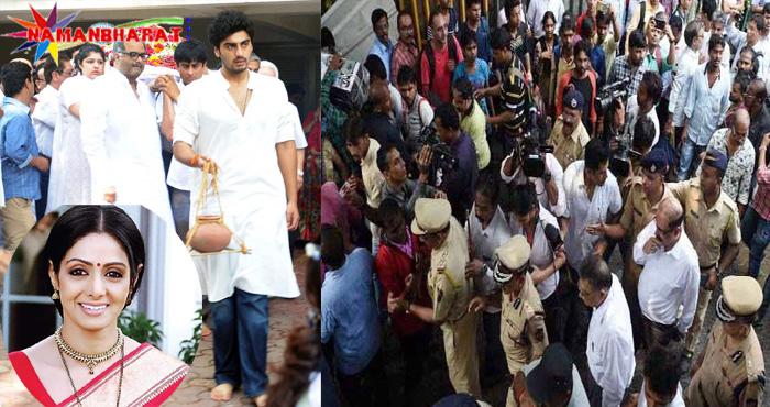 श्रीदेवी की मौत से पूरा देश है सदमे में, मुंबई में घर के बहार का नजारा है हैरान कर देने वाला